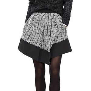 Banana Republic Asymmetrical Jacquard Skirt